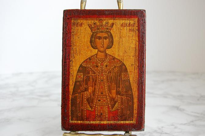 Religious Wood Icon - Religious Wall Decor - Religious Saint by PursuingVintage1