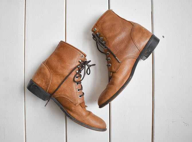 Vintage Leather Justin Boots 8 by milkandice