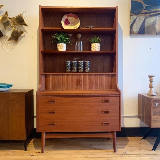 Danish Teak Secretary Desk / Shelf