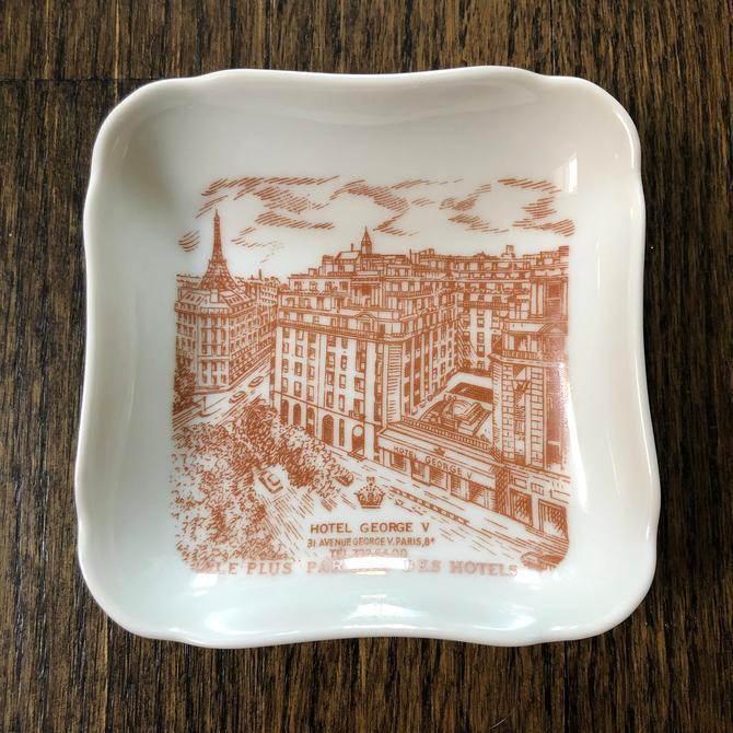 Hotel George V Ashtray - Limoges France, A Lanternier & Co, vintage Paris  souvenir by ShopTheHyphenate
