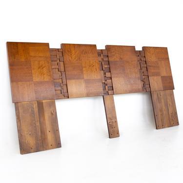 Lane Brutalist Mid Century Walnut King Headboard - mcm by ModernHill
