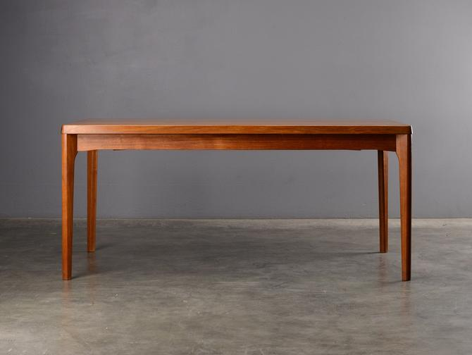 5.5ft Mid Century Teak Dining Table with Leaves Danish Modern by MadsenModern