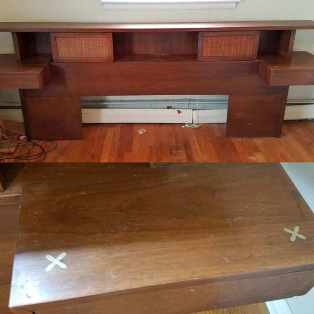 Queen Or King American Of Martinsville Headboard With