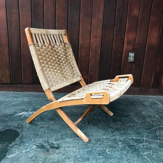 Peachy Vintage Rope Chair Danish Folding Lounge Mid Century Wegner Style Mid Century Modern 1960S By Brainwashington Ocoug Best Dining Table And Chair Ideas Images Ocougorg