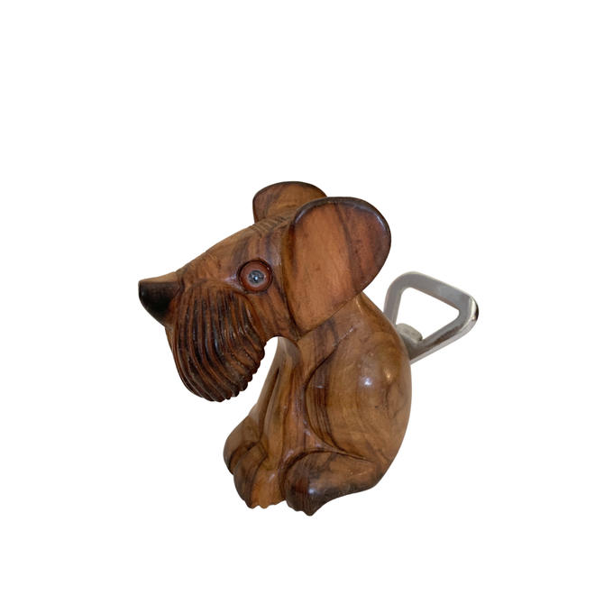 Vintage Wooden Dog Themed Bottle Opener by FunkyRelic