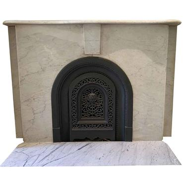 Simple Arched NYC Townhouse Marble Mantel