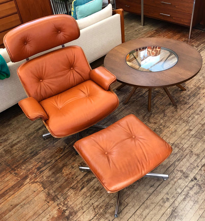 Eames-inspired Lounge Chair + Ottoman