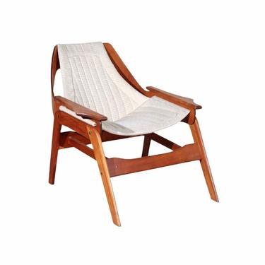 1960s Jerry Johnson Walnut Sling Chair, Boho Accent Chair, Mid Century Modern Chair, MCM Furniture by VivaLaVintagedotTX