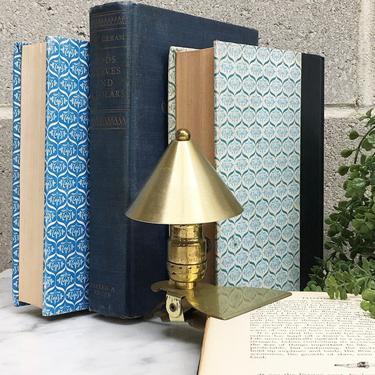 Vintage Night Light Retro 1960s Mid Century Modern + Clip On Light + Bedside or Reading Light + Desk Lamp + Gold Brass + MCM + Mood Lighting by RetrospectVintage215