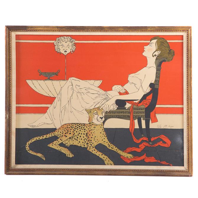 Philipe Henri Noyer. Woman with Cheetah