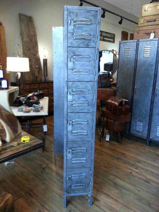 Vintage industrial stripped steel factory lockers by StateStreetSalvage