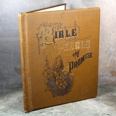 Bible Pearls of Promise - Stunningly Beautiful 1887 Antique Book of Bible Verses for Daily Reflections | FREE SHIPPING by Trovetorium