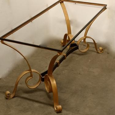 Robert Merceris forged iron and gilt coffee table (#1627)