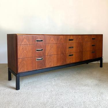 mid century Founders Pattern 12 walnut 9 drawer dresser by TripodModern