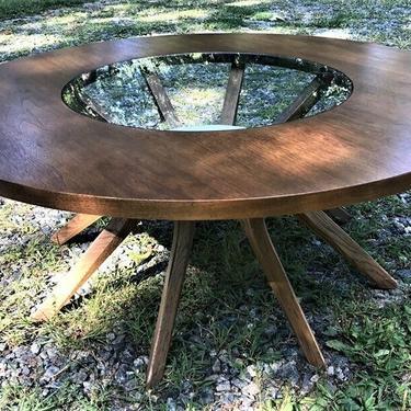 Mid Century Drexel Declaration Round Coffee Corner Table by Kipp Stewart