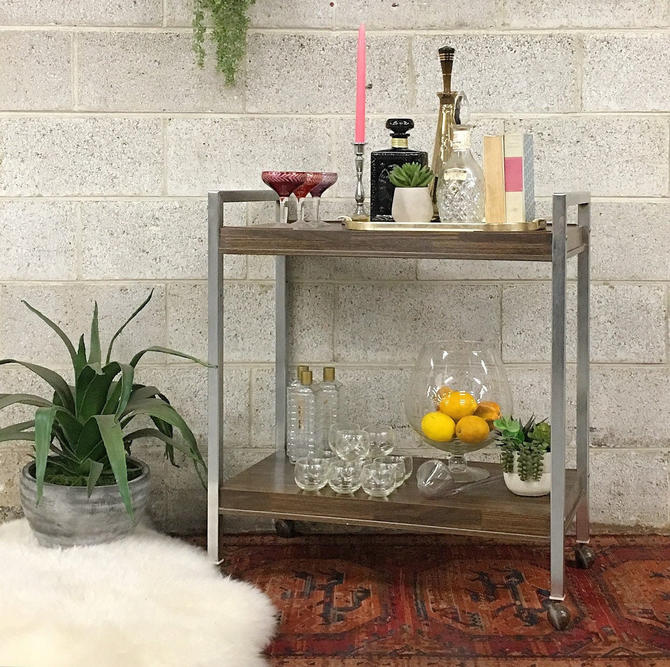 LOCAL PICKUP ONLY —————- Vintage Bar Cart by RetrospectVintage215