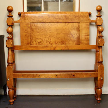 Ball & Block Bed in Maple (in original double size)
