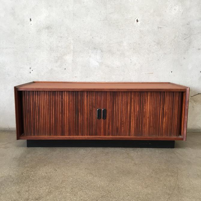 Mid Century Walnut Vinyl Record Cabinet