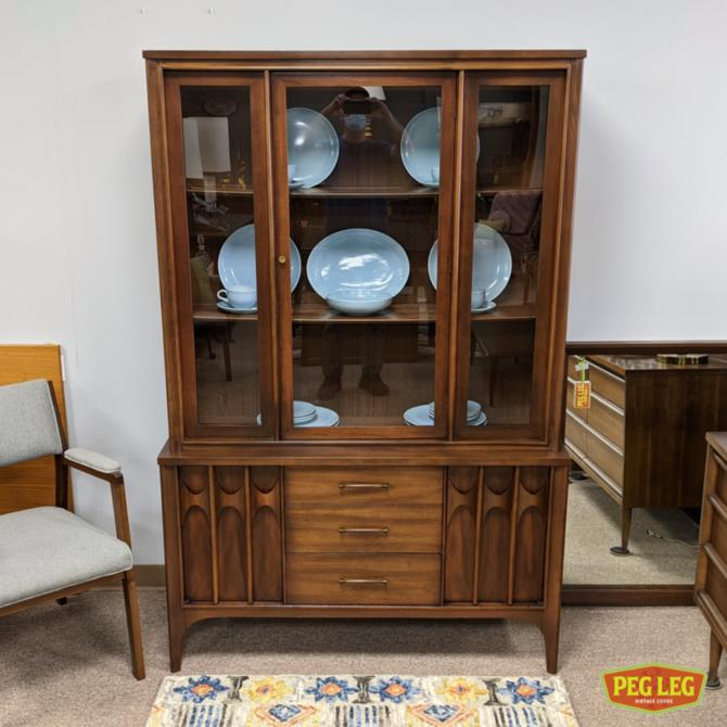 China cabinet with rosewood details from the 'Perspecta' collection by Kent Coffey