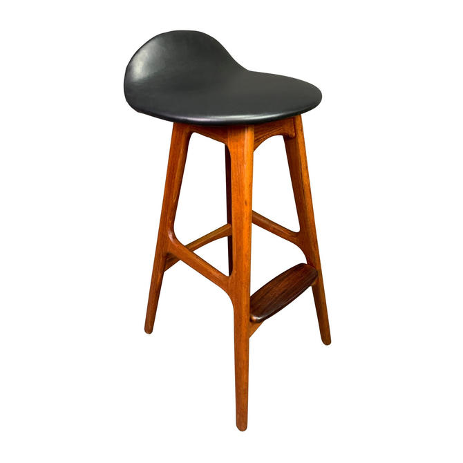 Vintage Danish Mid Century Modern Teak Bar Stool by Erik Buck by AymerickModern