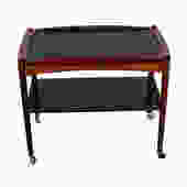 Danish Modern Rosewood Bar Cart w/ Removable Tray