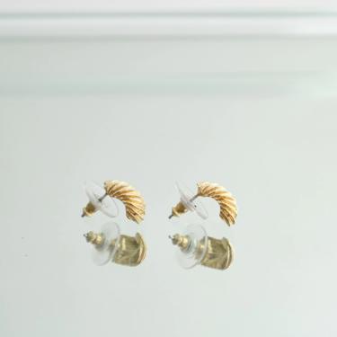Small Vintage Gold Toned Hoops   Huggies by ShopLantanaLane
