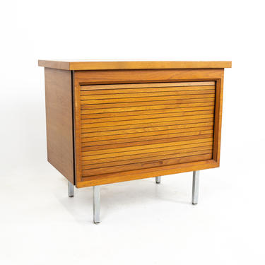 George Nelson for Herman Miller Style Mid Century Walnut Tambour Petite Credenza - mcm by ModernHill