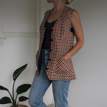 Vintage Pendleton Long Plaid Pure Virgin Wool Vest Women's Size M L - Made in the YUSA by NeonSkyVintageMN