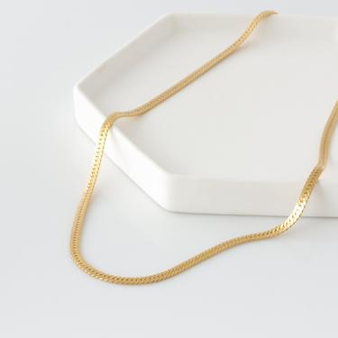 Thick Gold Chain, Herringbone Chain Necklace, 14K Gold Fill Thick Chain Necklace, Gold Snake Chain, Thick Layering Necklace, Gift for Her by LEILAjewelryshop