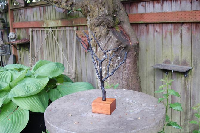 Special Order for C.  Cast Metal Tree on Wood Base by YesterdayAndTomorrow