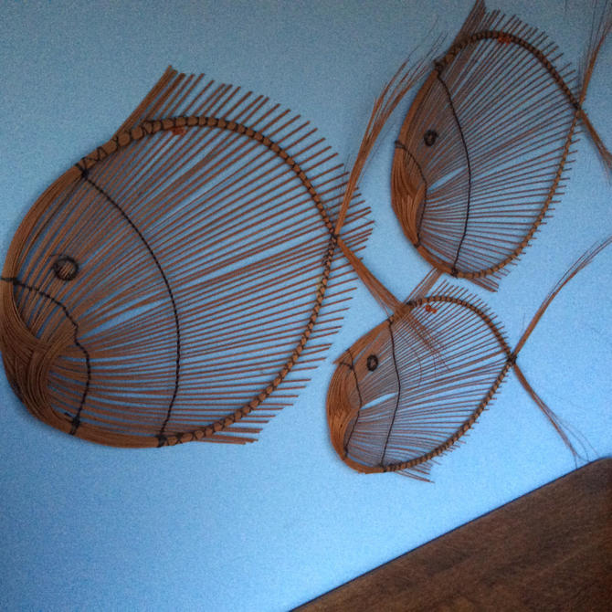 1970s School Of Fish Wall Art Rattan Decor Why Not By
