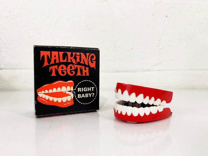 Vintage Talking Teeth Gag Gift Colorful Toy Made in the USA Chicago 1970 1970s 70s Toys Ephemera Fishlove & Co. Yakity-Yak Funny Joke by CheckEngineVintage