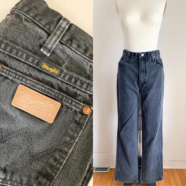 "Vintage 1980s Faded Black Wrangler Jeans / 30"" waist by MsTips"