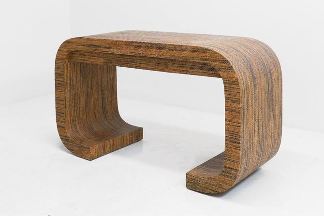 Grasscloth Desk by BetsuStudio