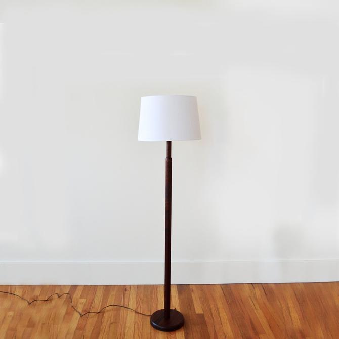 Vintage Turned Walnut Floor Lamp by Gordon & Jane Martz for Marshall Studios USA | Minimalist Wood Lighting | Mid Century Lighting by OxfordPatinaLA