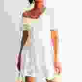 Self-Portrait Lace Eyelet Mini Dress, Size 2