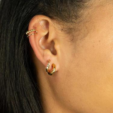 Lyla Gold Ear Cuff, Geometric Simple Ear Cuffs, Tiny Ear Cuff, Cartilage Earrings for Women, Minimal Ear Climber, dainty gold ear cuff by MelangeBlancDesigns