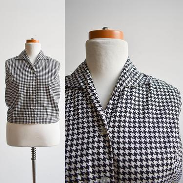 1970s Cotton Houndstooth Blouse by milkandice