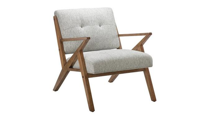"""Rocket"" Lounge Chair in Light Grey"