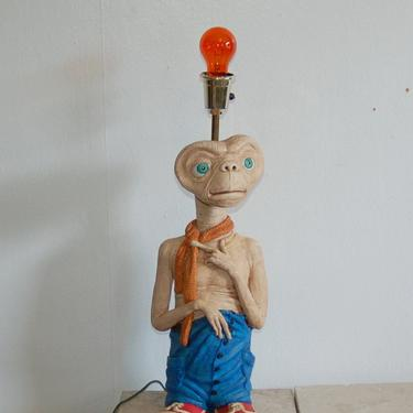 Vintage 1980's E.T. Extra Terrestrial Character Table Lamp ~ Red Tennis Shoes Wearing  E.T. Extra Terrestrial Character Table Lamp ~ VG by YesterdayAndTomorrow