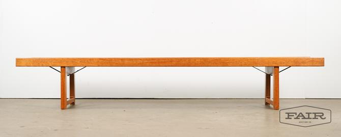 Extra long teak bench Korbo by Bruksbo Norway
