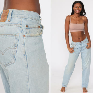 Levis Mom Jeans 30 -- 560 High Waisted Jeans 80s Jeans Faded Blue Jeans Levi High Waist Denim Pants Straight Leg 1980s Vintage Medium by ShopExile