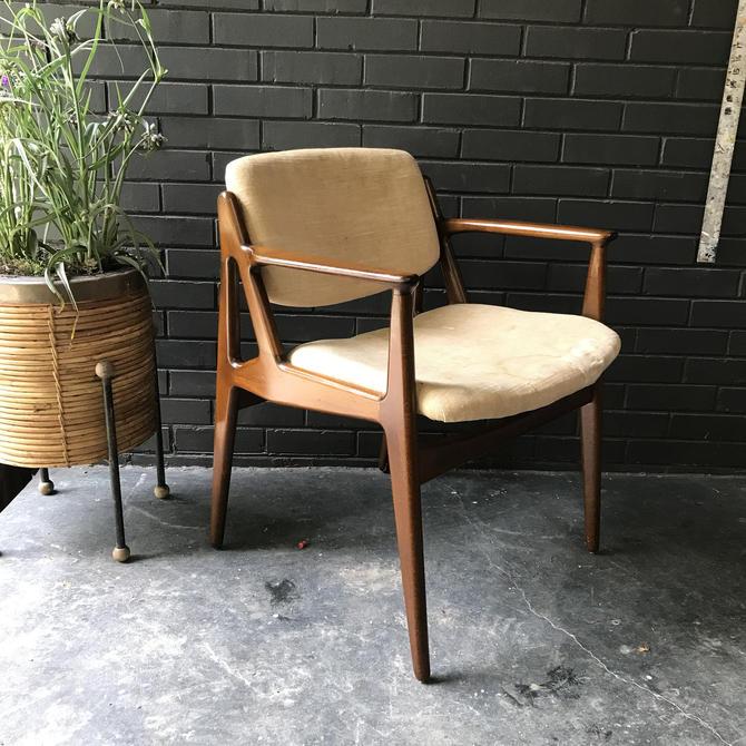 Vintage Danish Mid Century Modern Teak Dining Chair Tilt