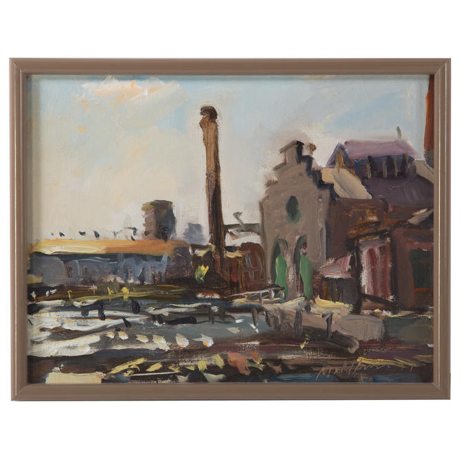 Raoul Middleman. Factory and Smokestack