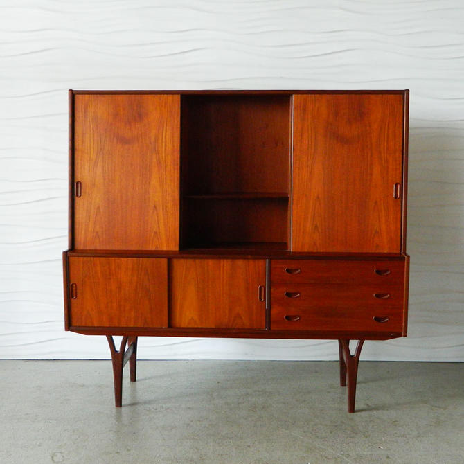HA-18111 Danish Teak Highboard
