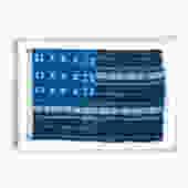Framed Indigo Flag