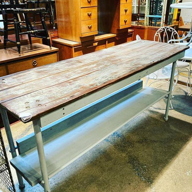 Painted kitchen island, 6'W x 2'D x 34""