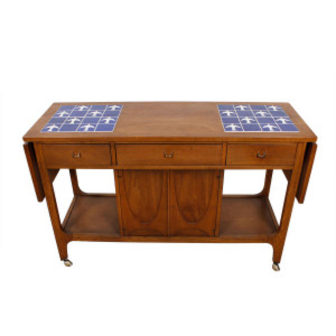 MCM Walnut Brasilia Bar / Serving Cart