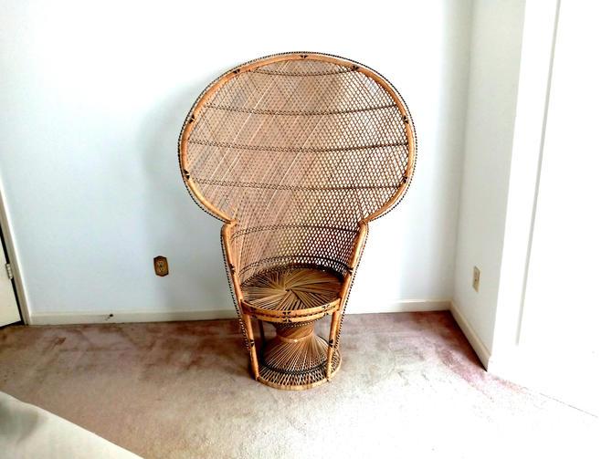 Vintage Rattan Fan Chair by ModernPicks