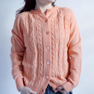 Peach Acrylic Cardigan 1960's NWT fits S - L New Old Stock by BeggarsBanquet